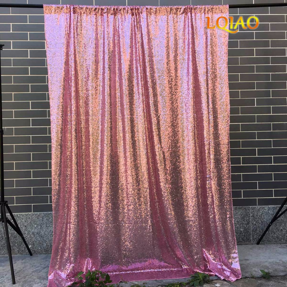 Pink Sequin Curtains 4x8 10x10 Pink Gold Sequin Backdrop Glitter Sequin Curtain Wedding Photo Booth Backdrop Photography Background Christmas Decor