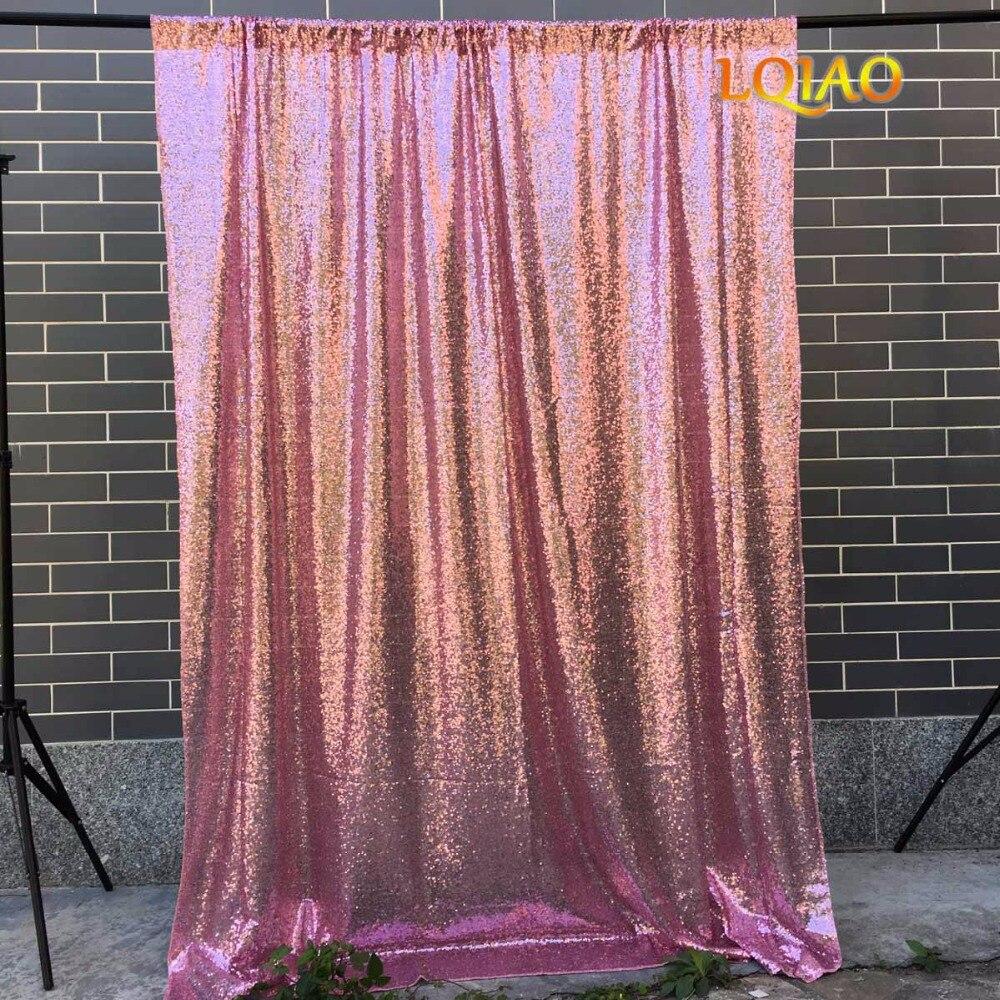 4x8/10x10 Rosa oro lentejuelas telón de fondo, brillo cortina de lentejuelas, foto de la boda, fondo de la fotografía, decoración de Navidad
