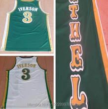 7760def94bd Dwayne Cheap #3 Allen Iverson Jersey Bethel High School Bruins Basketball  Jerseys Stitched Throwback Shirts