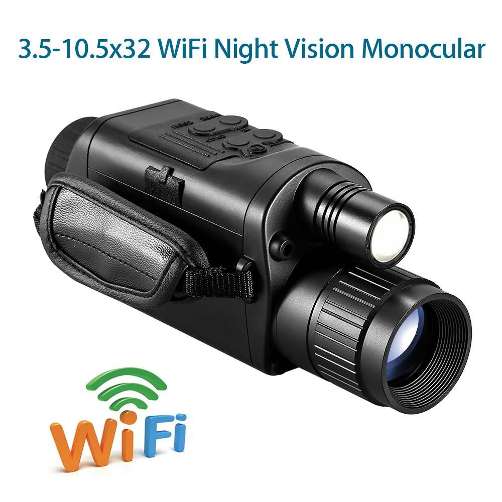 BOBLOV Hunting Night Vision Telescope 5x32 Infrared Military Tactical Monocular Powerful HD Digital Vision Telescope-in Night Visions from Sports & Entertainment
