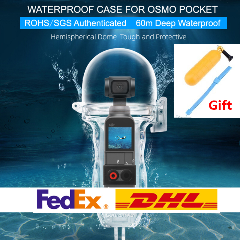 OSMO Pocket Waterproof Case 60 Meters Diving Case Protective Shell Housing for OSMO POCKET Camera Accessories