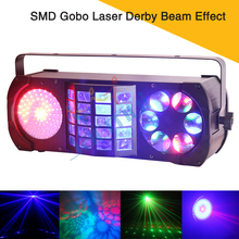 Multi Effect SMD Gobo Laser Derby Beam Effect Led Stage Disco Lights For Disco/Club/Mobile DJ/Party/Bar mini 360 degree rotating rgb beam gobo laser effect lights dmx dj party disco home club show professional stage lighting q 360r