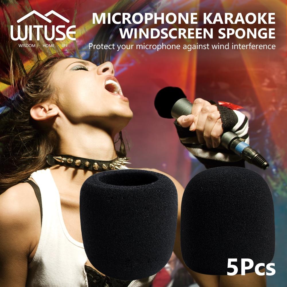 YCDC 5PCS Free Shipping Large Black For Audio Technica Studio Recording Mic Windshield Cover Microphone Sponge Foam