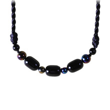 Featured hand-woven accessories ethnic style jewelry wild art short clavicle necklace black women