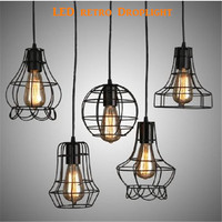 American Vintage Pendant Lights Iron Copper Hanging Ball Bell Pendant Lamp E27 110V 220V For Home