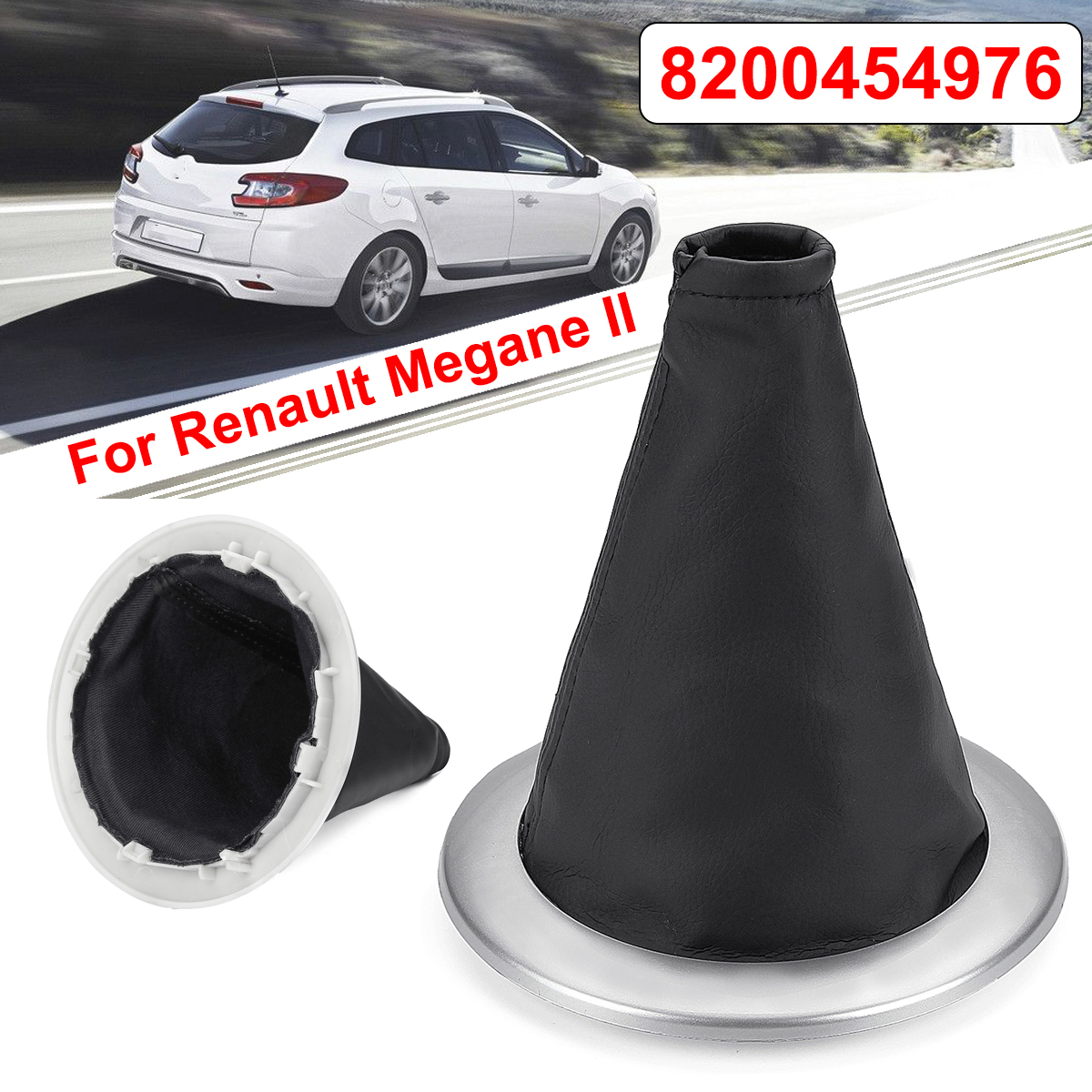 Sunny Car Gear Shift Collar Gaiter Boot Cover For Renault Megane Ii 2002-2009 /sport Tourer Ii 2003-2009