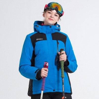 LANLAKA marque veste de Ski femmes ski snowboard vestes chaud manteau de neige respirant disponible femmes veste de Ski - 2