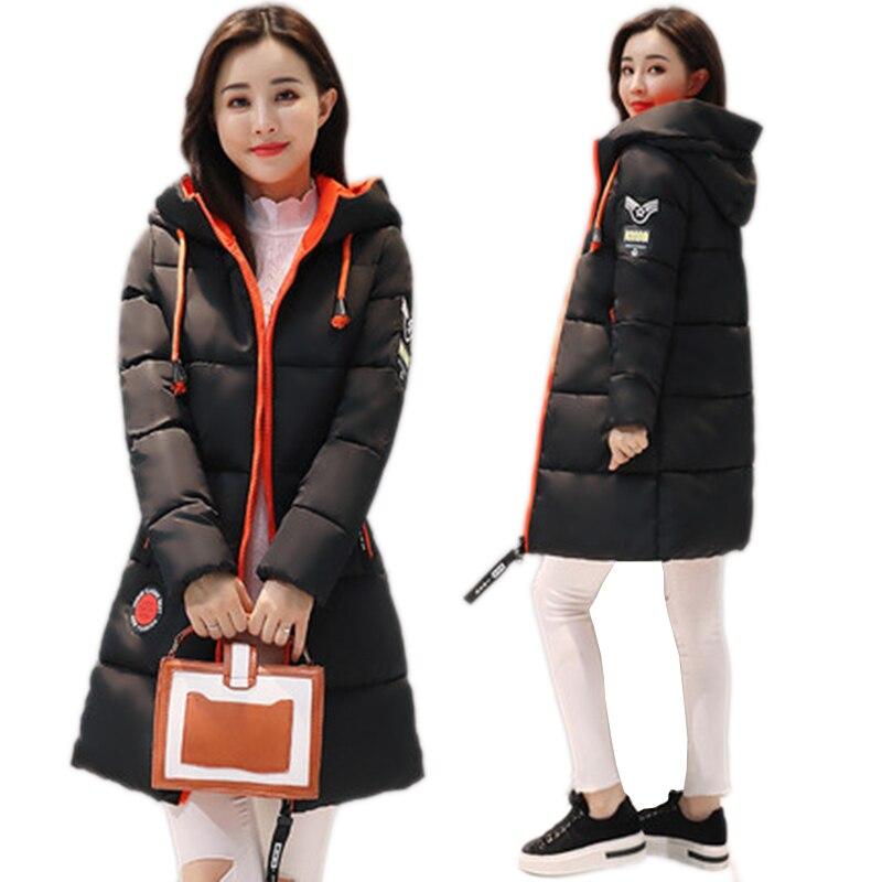 Plus Size M-3XL 2018 New Winter Jacket Female Parka   Coat   Long   Down   Jacket Long Hooded cotton   Coat   Jacket Women outerwear LF888