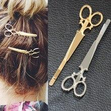 TS405 Cool Simple font b Head b font Jewelry font b Hair b font Pin Gold