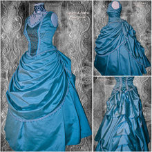 Victorian Corset Gothic/Civil War Southern Belle Ball Gown Dress Halloween dresses US 4-16 R-373