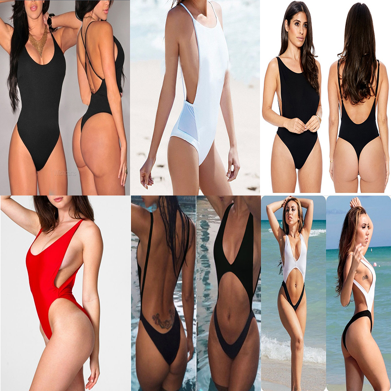 maillot de bain femme une piece thong one piece swimwear sexy monokini trikinis for women. Black Bedroom Furniture Sets. Home Design Ideas