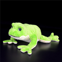 30cm Length Lying Version Frog Plush Toys Extra Soft Lifelike Frogs Stuffed Animal Toys Birthday Gifts For Kids