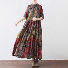 Для женщин Винтаж 50s 60 рокабилли летнее платье свободные новые Для женщин китайское платье Robe Femme размера плюс этнические платья Vestidos