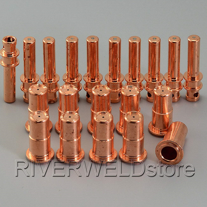 PR0115 Plasma Electrodes PD0106 Plasma Tips Nozzles Consumables Accessories Fit A81 A80 P80 Plasma Torch 20pcs