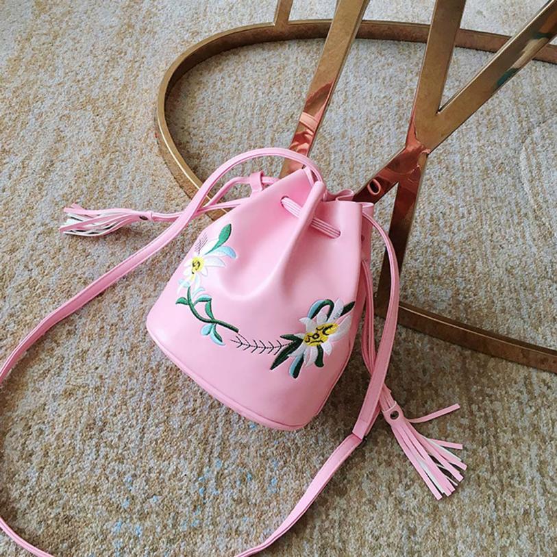 Для женщин модная обувь из искусственной кожи с цветочной вышивкой сумка Для женщин Сплошной Цвет что сумка-мешок сумка # F