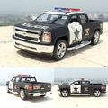 Nueva llegada 5 ''cm 2014 chevrolet pickup kinsmart aleación diecast modelo de juguete coche de la policía americana cars para niños