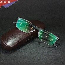 New Ultra Light antifatigue Progressive Multifocal Commercial Reading Glasses men Bifocal Intelligence diopter glasses TR90 Legs