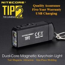 NITECORE TIP2 CREE XP G3 S3 720 люмен USB Перезаряжаемый брелок фонарик с батареей