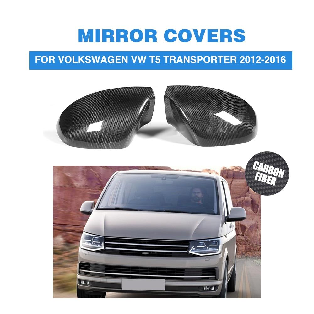 2 шт./компл. углеродного волокна автомобиля боковое зеркало заднего вида планки для Volkswagen VW T5 транспортер 2012 2016 добавить на Стиль