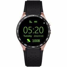 Kw88 3g wifi gps smart watch android 5.1 os mtk6580 cpu 1,39 zoll bildschirm 2.0mp kamera smartwatch für apple moto huawei