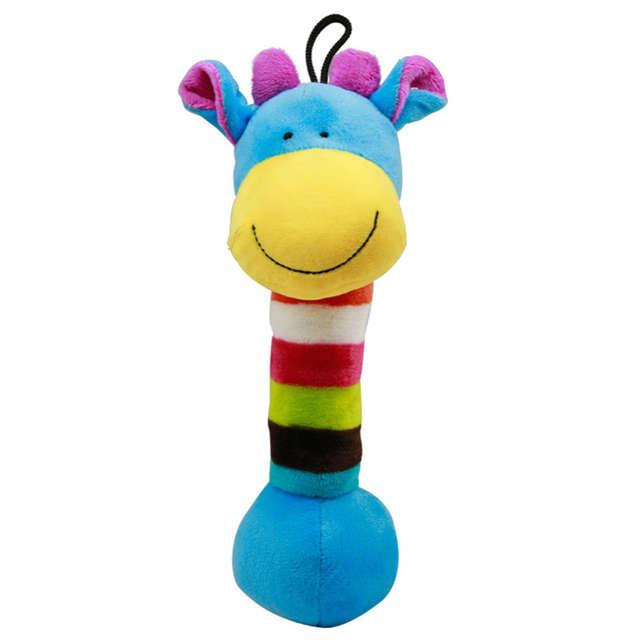 1PC Plush Animal Shape Squeaky Pet Chew Toy Pet Sound Play Doll Dog Chew  Plush Giraffe Lion Panda