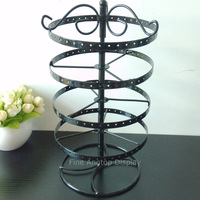 Wrought Iron 4 Layer Jewelry Display Stand Holder Rotating Ornaments Earrings Storage Display Shelves