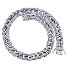 18 мм, мужское ювелирное ожерелье в стиле хип хоп, медная позолоченная микро цепочка, 18 дюймов, 22 дюйма