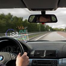 цены на Dragonpad A8 Universal 5.5 Inch Car HUD Head Up Display OBDII Speed Warning Fuel Consumption Automobile Car Alarm System  в интернет-магазинах