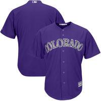 MLB Men S Colorado Rockies Baseball Purple Alternate Official Cool Base Team Replica Jersey