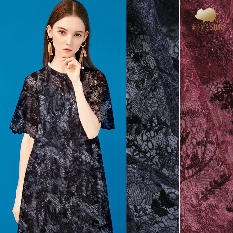 Double sided embroidery silk organza yarn fabric perspective shirt dress lace embroidered fabric fashion natural silk fabricDouble sided embroidery silk organza yarn fabric perspective shirt dress lace embroidered fabric fashion natural silk fabric
