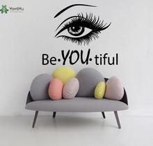 YOYOYU Vinyl Wall Decal Woman Salon Decoration Beautiful Wording Repetable Beauty Girl Retro wall sticker YO313