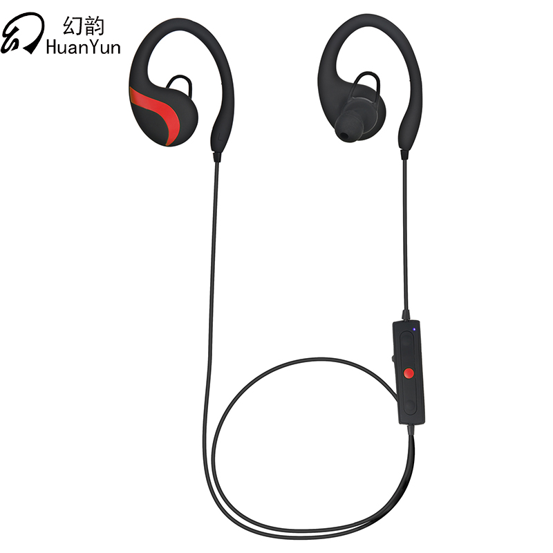 Huan Yun Sport Bluetooth Earphone Stereo Headset Waterproof Wireless ear hook Headphone With Mic. HIFI Wireless Sport Bluetooth huan nuo