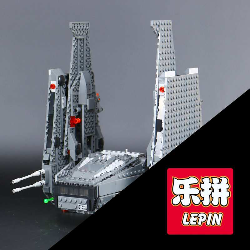 Lepin 05006 Star  Kylo Model Ren set Command gift Shuttle Wars Building Blocks  Educational Toys Compatible with 75104 color metal 3d puzzle star wars millennium falcon for adult 2016 new batman flying wing kylo ren shuttle 3d nano jigsaw puzzles
