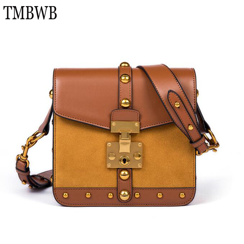New Retro Scrub Patchwork Womens Bag Vintage Women Cowhide Leather Ladies Handbags Chic Crossbody Bag for Female Bolsa Q0266New Retro Scrub Patchwork Womens Bag Vintage Women Cowhide Leather Ladies Handbags Chic Crossbody Bag for Female Bolsa Q0266