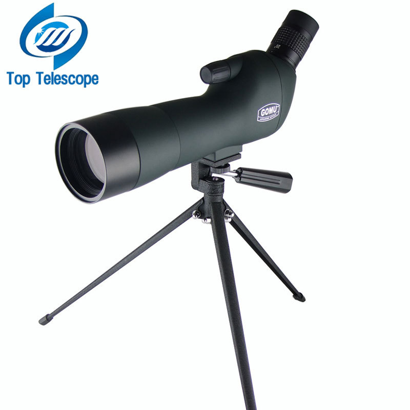 GOMU 20-60X60AE Zoom HD Adjustable Monocular Telescope Spotting Scopes with Portable Tripod Telescopio for Hunting Bird watching 10x zoom telescope lens with tripod