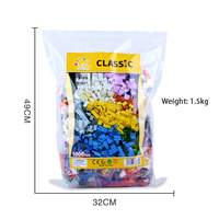 1000pcs Building Blocks Set Children Education Toys DIY Baby Gifts 10 Colors 14 Shapes Compatible With