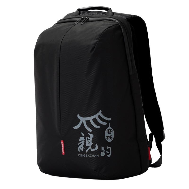 Kingsons Anti theft Male Female Backpack Nylon Waterproof Men Women Mochila 15.6 inch Laptop Preppy School Backpack for Boy Girl