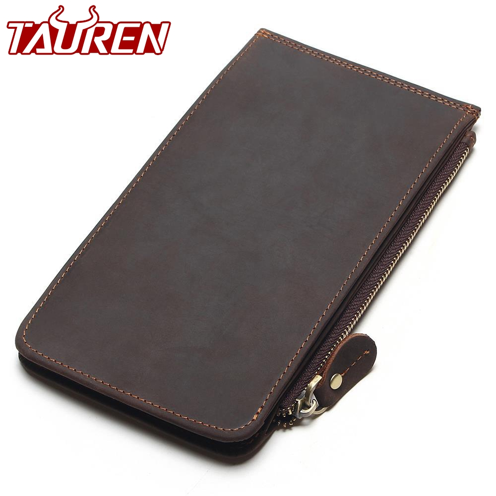 New Men Ultra-Thin Genuine Leather Big-Capacity Long Cards Package Multi-Card Bit Wallet Bag Man Bank Credit Card Holder 1 black pu leather ladies long section of ultra thin magnetic buckle multi card wallet wallet size about 19 9 5 2cm