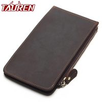 New Men Ultra Thin Genuine Leather Big Capacity Long Cards Package Multi Card Bit Wallet Bag Man Bank Credit Card Holder