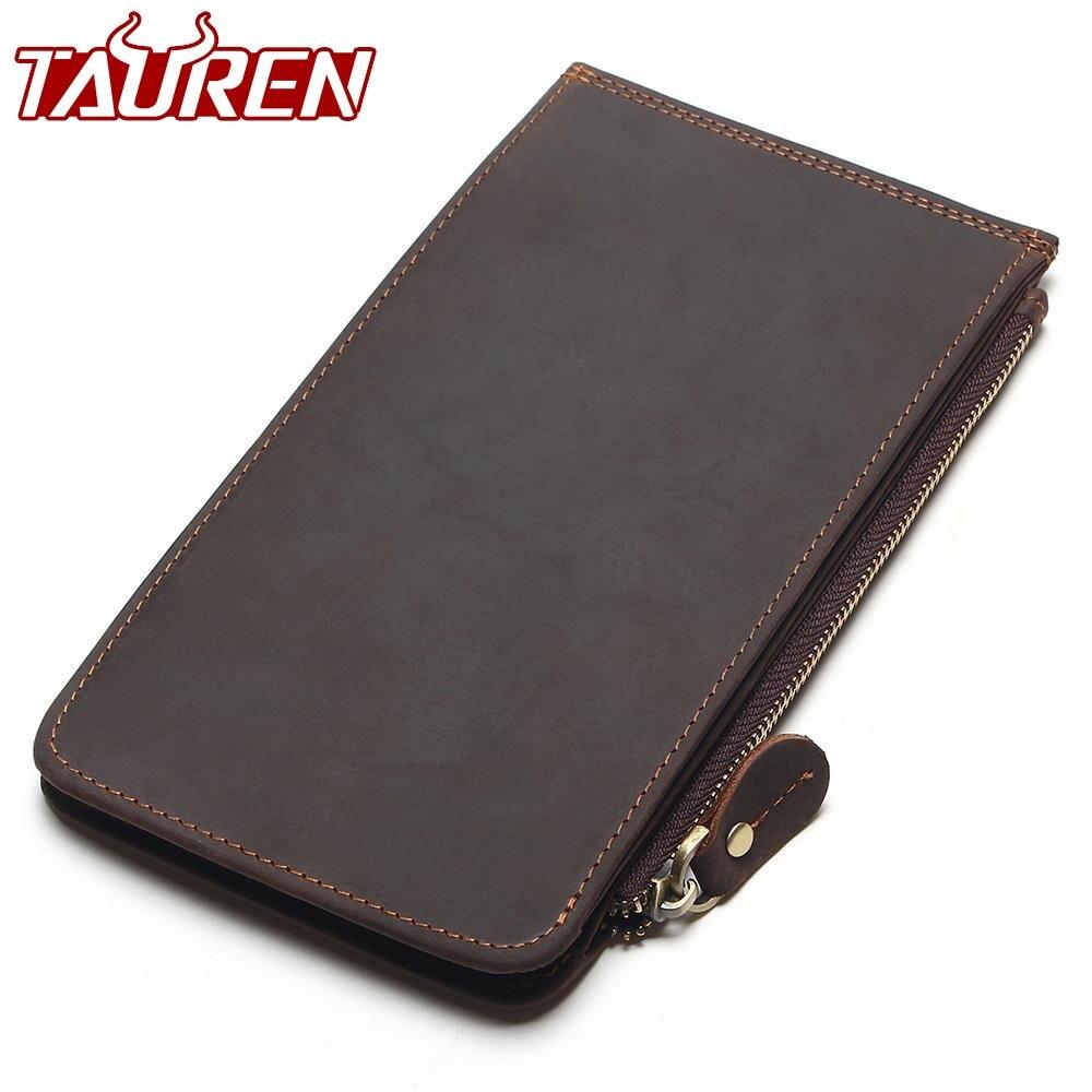 New Men Ultra Thin Genuine Leather Big Capacity Long Cards Package Multi Card Bit Wallet Bag Man Bank Credit Card Holder