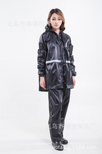 Adult Thickening Noctilucent Suit Raincoat Polyester Fiber PVC Reflect Light Casacas Para Mujer Woman Rain Coat Camping