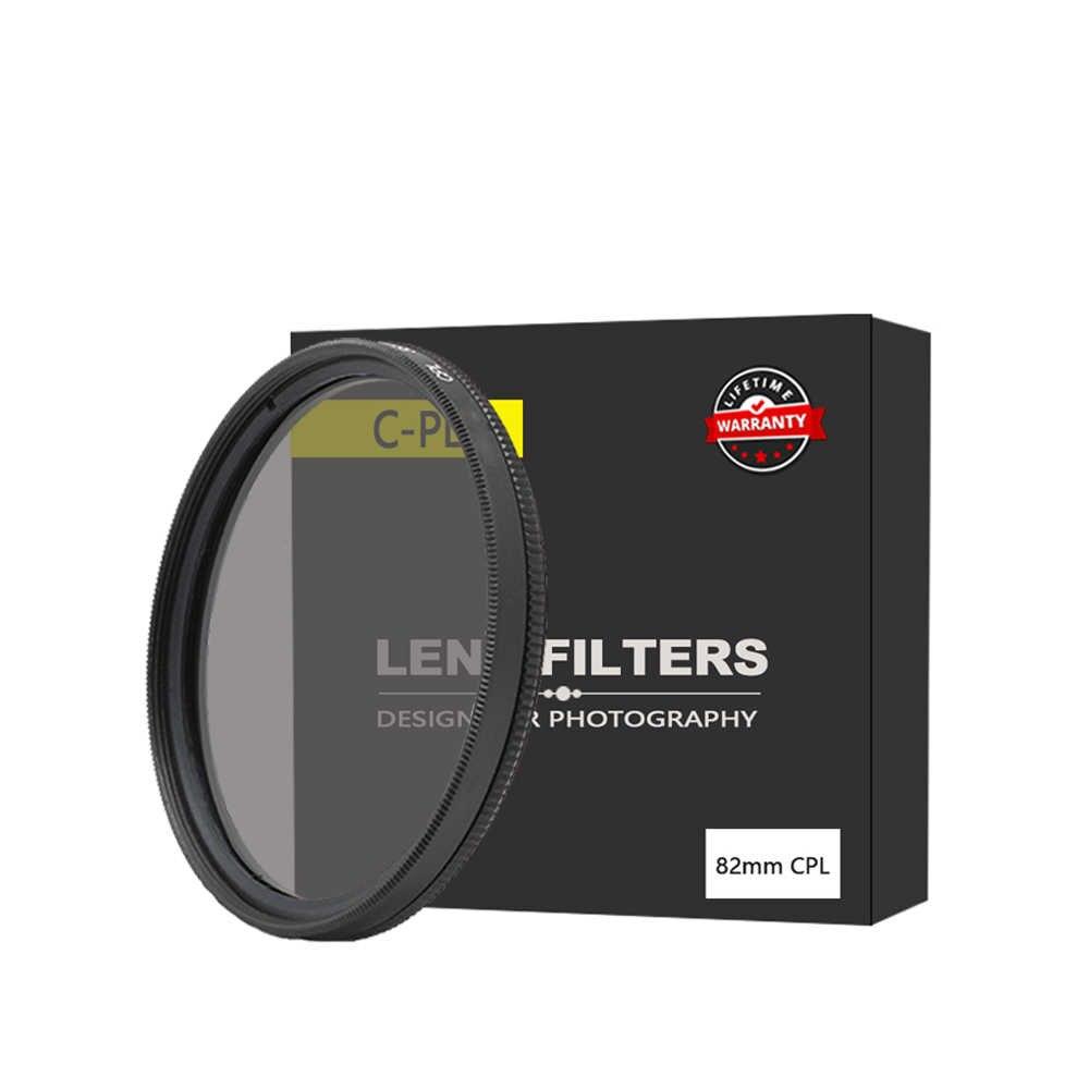 EDMTON высокое качество 82 мм круговой поляризационный фильтр CPL C PL Объектив 62 для