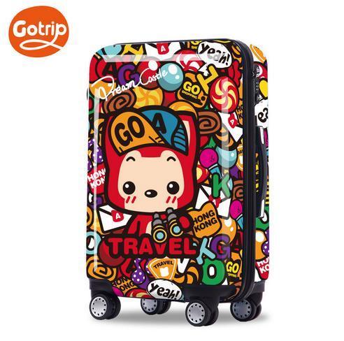 Ahri тележки чемодан bavul мило багаж счетчик жесткие оболочки мешок 20 дюймов