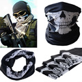 Hot 2017 New Skull Half Face Bandana Skeleton Ski Motorcycle Biker Paintball Face Mask V172