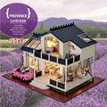 Regalos de Año nuevo PROVENCE Bricolaje Casa de Muñecas En Miniatura Modelo De Construcción de Madera Muebles de casa de Muñecas Modelo de Regalo de Cumpleaños