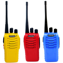 2PCS/Lot Original BAOFENG BF-888S UHF400-470MHz 5W 16CH Ham Two-way Radio Walkie Talkie Red/Yellow/Blue BF888S 1500mah battery