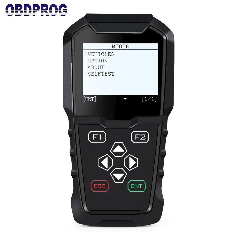 OBDPROG MT006 Программирование Автомобильный ключ Pin код коррекции одометра Пробег регулировки OBD2 инструмент диагностики для VW Audi Skoda сиденья