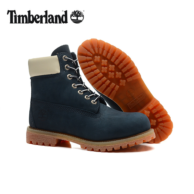 Original TIMBERLAND Man Wearable Dark Blue Winter Casual Ankle Boots,Men  Timber Genuine Leather Outdoor Warm Durable Shoes 40-45 a4aa739ea28