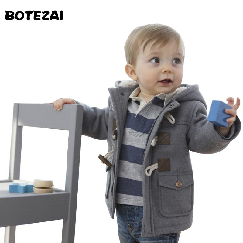 b3510e6c24edb Nouveau 2017 bébé Garçons Enfants survêtement manteau de mode enfants  vestes pour Garçon filles veste D'hiver Chaud à capuche enfants vêtements