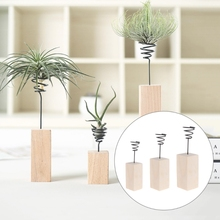 New Year Air Plant Stand Holder Container Tabletop Tillandsia Planter Desk Display Rack Creative Vases Home Decor Christmas